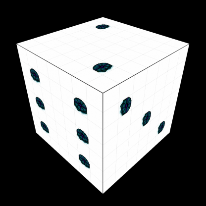 Screenshot of a blank die world from PipQuest