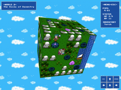 Screenshot of PipQuest game