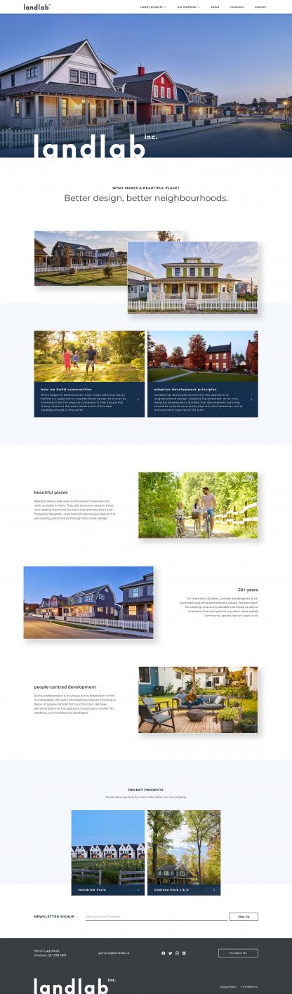 Screenshot of Landlab homepage