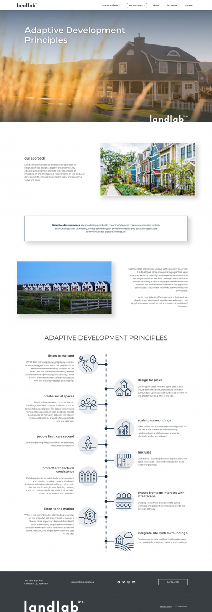 Screenshot of Landlab Adaptive Development page